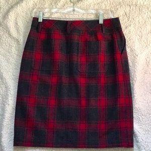 Eddie Bauer👜Wool Plaid Skirt